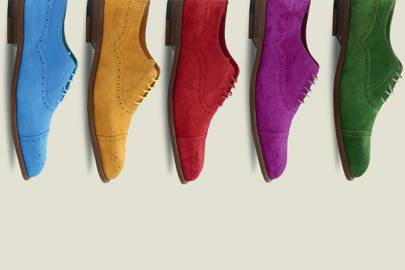 Manolo Blahnik is making men's shoes which are incredibly uplifting