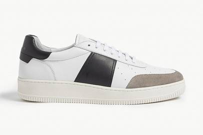 Magic leather and suede trainers by Sandro