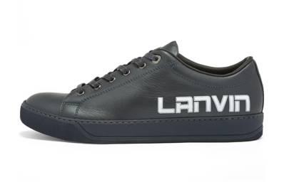 27. Lanvin printed logo sneakers
