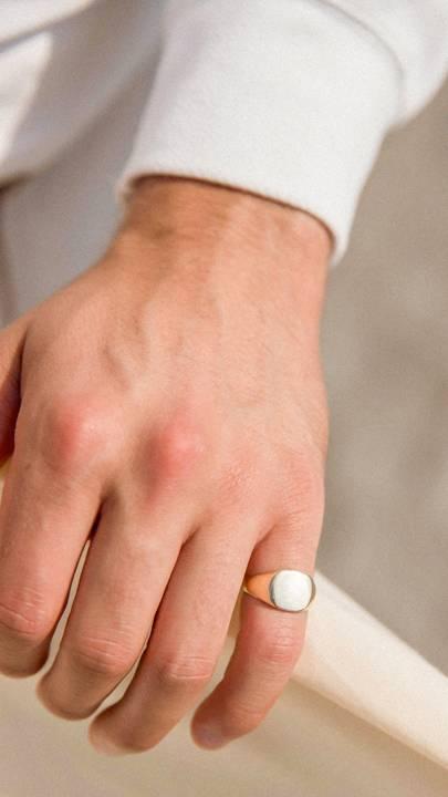 Solid 14k Grand Square Signet Ring by Belle Volonté