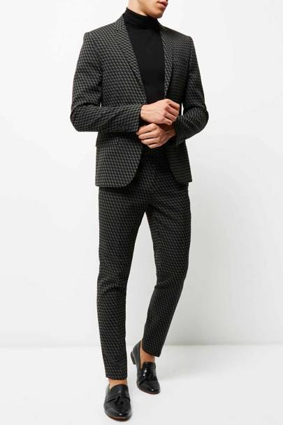River Island limited edition jacquard suit