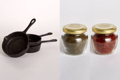3. Honey & Spice cast iron shakshuka pan and spices