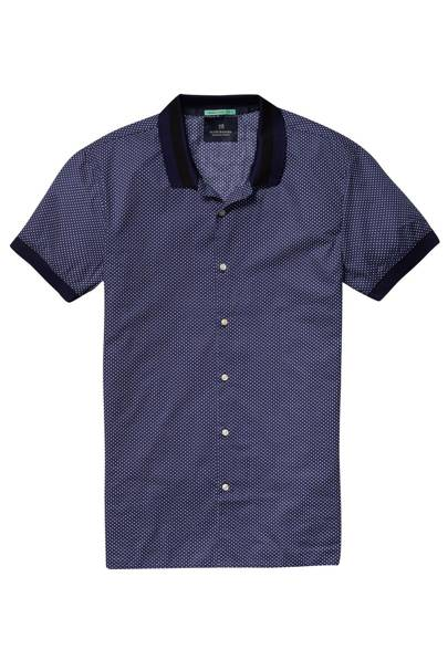 Scotch & Soda poplin button-up shirt