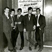 Andrew, second from right, with friends at the RAMJAM CLUB, Brixton, London 1966