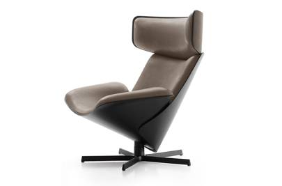 3. Almora chair and ottoman by Doshi Levien