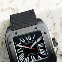 Santos 100 Carbon by Cartier