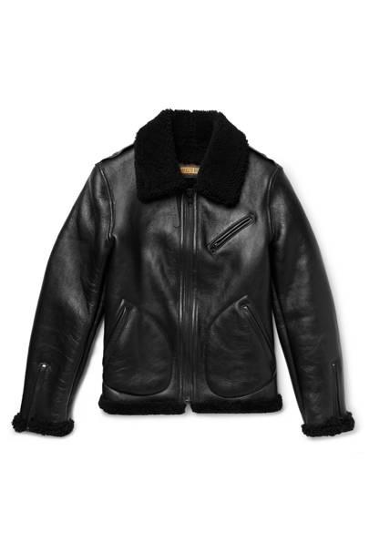 Shearling biker jacket by Schott