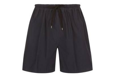 Drawstring cotton shorts by No21