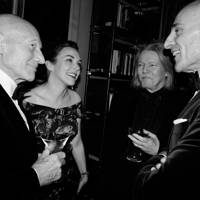 Sir Patrick Stewart, Sunny Ozell, Christopher Hampton, Mark Strong