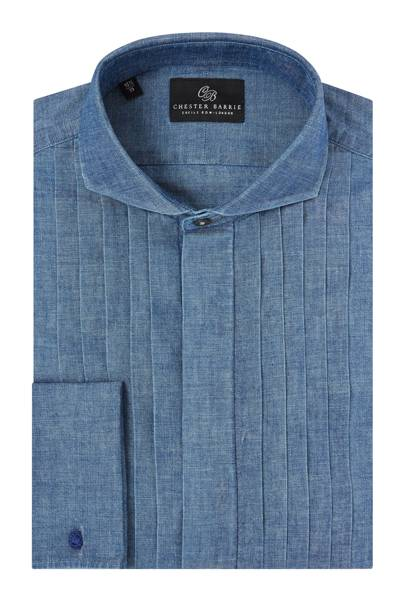 Chambray dress shirt by Chester Barrie