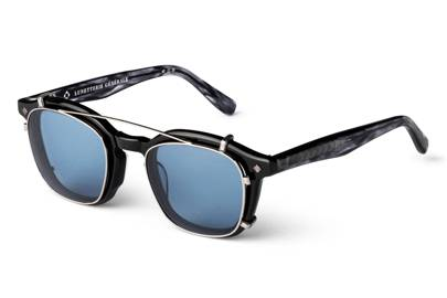 Lunetterie Generale 'Cognac' optical glasses and clip-on shades