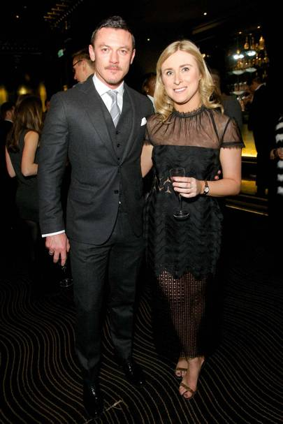 Luke Evans and Ellie Weatherseed