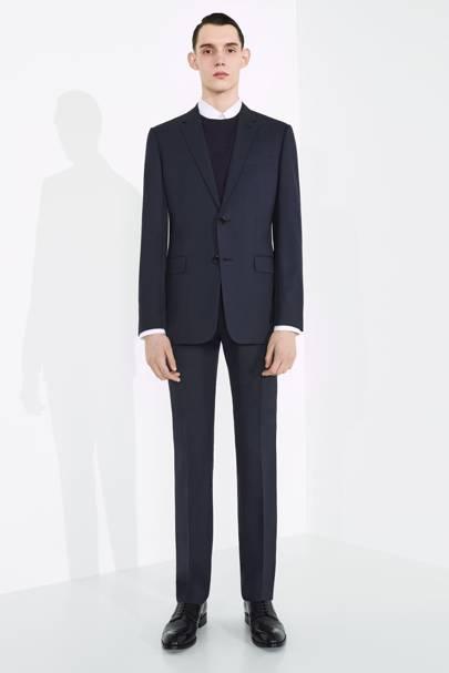 Dior Suit in Soft Navy Blue Woollen Cloth