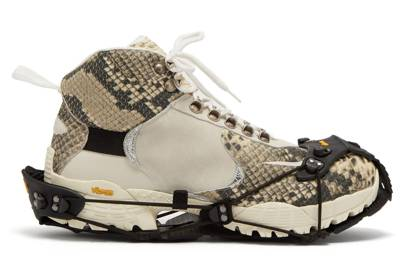 High-top python-effect hiking boot trainers by 1017 ALYX 9SM