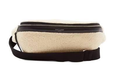 Shearling belt bag by Saint Laurent
