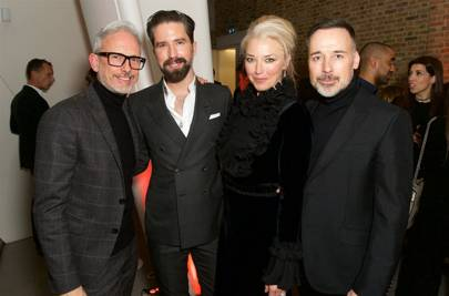 Patrick Cox, Jack Guinness, Tamara Beckwith and David Furnish