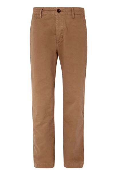 Wide-leg cotton-twill chinos by Mr P
