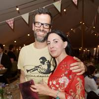 Marcus Brigstocke and Louise Garosi