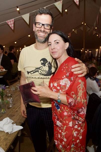 Marcus Brigstocke and Louise Garosi