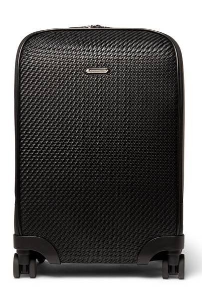 Pelle tessuta leather carry-on by Ermenegildo Zegna