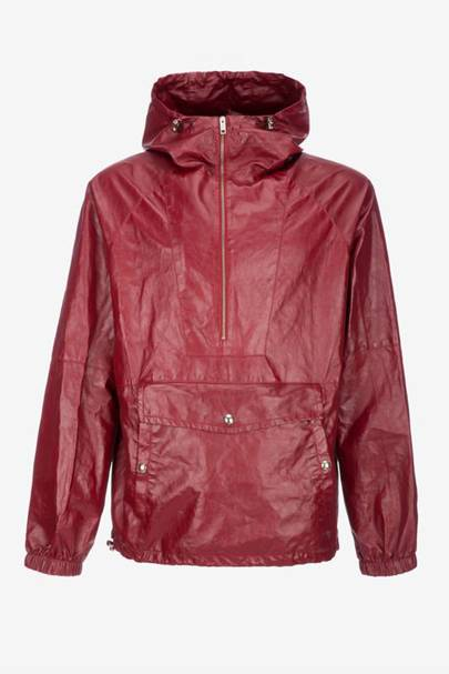 Leather parka jacket by Bally