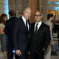 Dylan Jones and Stanley Tucci