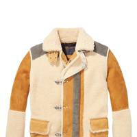 Suede and shearling coat by Scotch & Soda