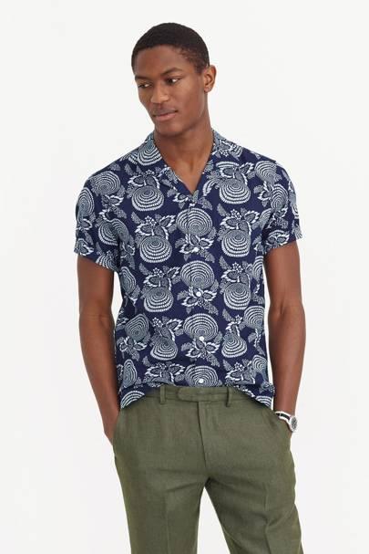 Wallace & Barnes Japanese print shirt