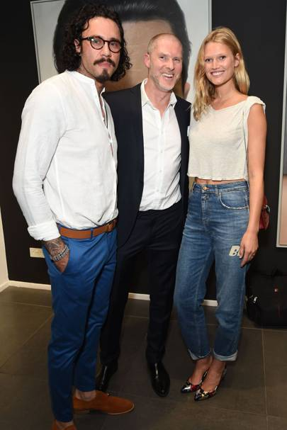 Mike Dargas, Jean-David Malat and Toni Garrn