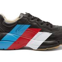 Rhyton raised-sole striped trainers by Gucci