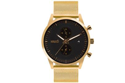 Gold Traveller with Milanese Strap by Malmo Timepieces