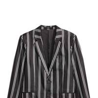 Striped silk jacket