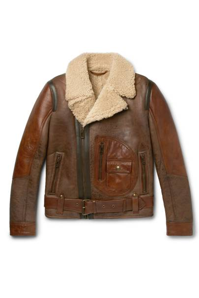Danescroft leather-trimmed shearling jacket by Belstaff