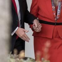 27 January 2017: Theresa May and Donald Trump's hand holding