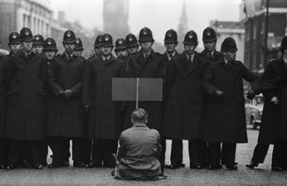 Protester, Cuban Missile Crisis, Whitehall, London, 1963