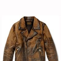Vintage distressed-leather jacket by RRL