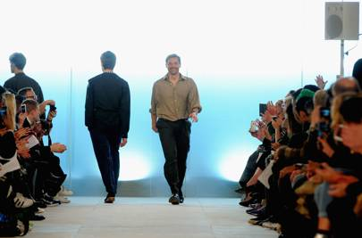 Patrick Grant on the catwalk of his A/W '16 show at LCM in January 2016