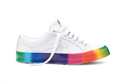 3. Tyler, The Creator's Rainbow Golf le Fleur Converse