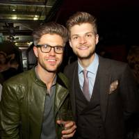 Darren Kennedy and Jim Chapman with their Ciroc cocktails