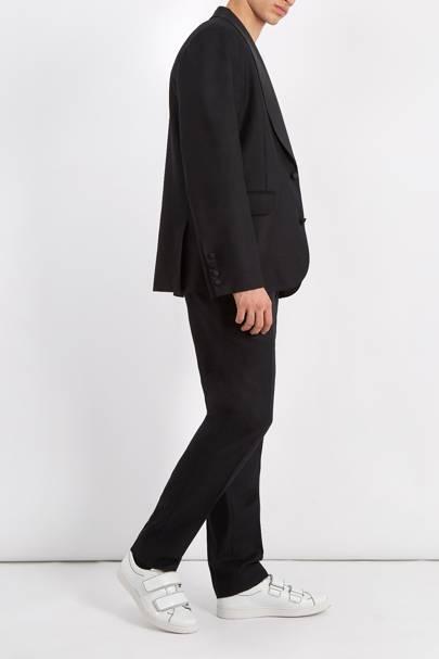 Slouchy black tuxedo by Raey