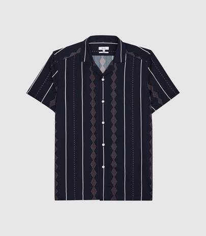 Cuban collar shirt by Reiss