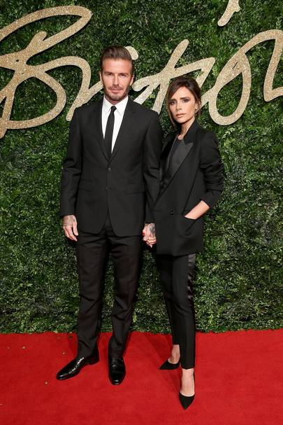 Arriving to the British Fashion Awards