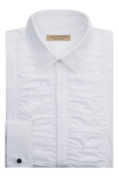 Burberry ruched bib formal shirt