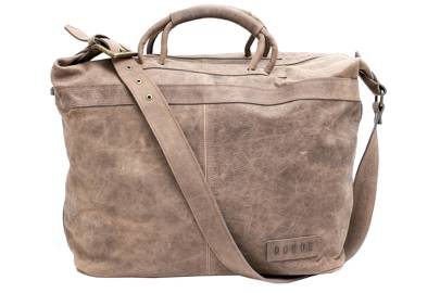 Leather weekender San Telmo Ecru by Roque Bags
