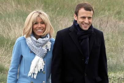 French Presidential candidate Emmanuel Macron and his wife Brigitte Trogneux