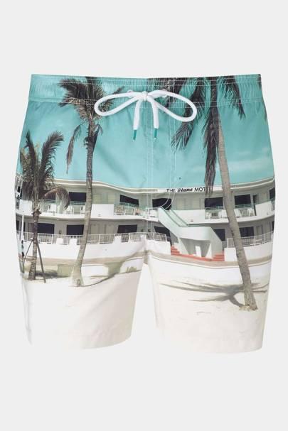 Burton photographic print swim shorts