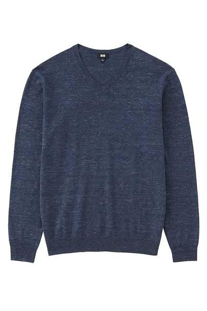 Uniqlo linen-blend jumper