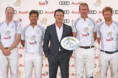 The Duke of Cambridge, Nic Roldan, Luke Evans, Tom Morley & Prince Harry