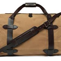 Leather-Trimmed Twill Duffle Bag by Filson