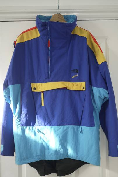 9634ffd82 I bought this on Depop and thought I was quite savvy. Buying a used anorak  from a trendy resale site? In en vogue shades of vibrant yellow and  aquamarine?